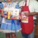 Homemade Dave Thomas and Wendy's Girl Couple Costume