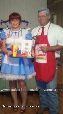 Homemade Dave Thomas and Wendy's Girl Couple Costume