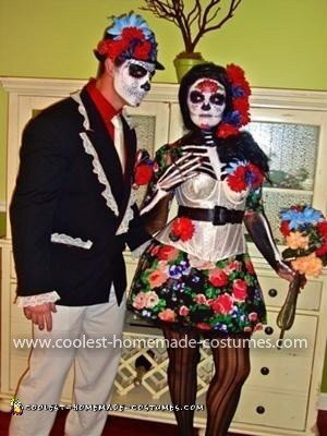 Coolest Day of the Dead Couple Costume