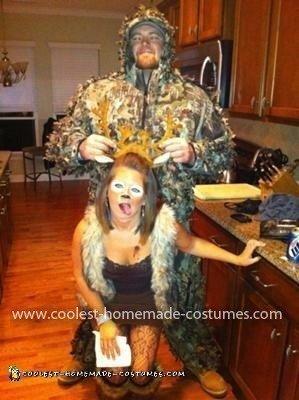 Homemade Deer and Hunter Costume