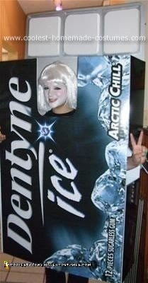 Homemade Dentyne Ice Halloween Costume
