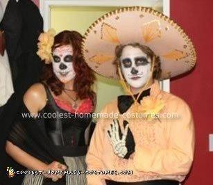 Homemade Dia De Los Muertos Costume