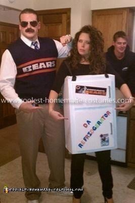 Homemade Ditka & Refrigerator Perry Couples Costume
