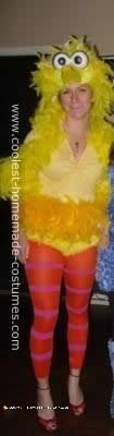 Homemade DIY Big Bird Halloween Costume