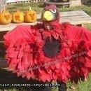 DIY Cardinal Bird Kids Halloween Costume