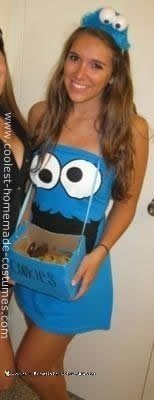 Homemade DIY Cookie Monster Halloween Costume