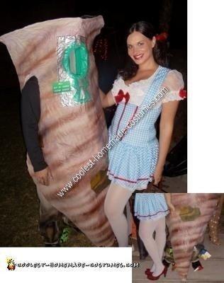 DIY Dorothy and the Tornado Costume Idea