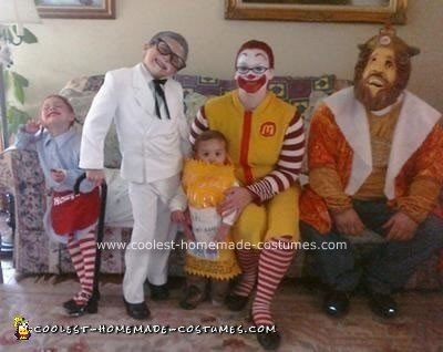 diy fast food family halloween costume idea