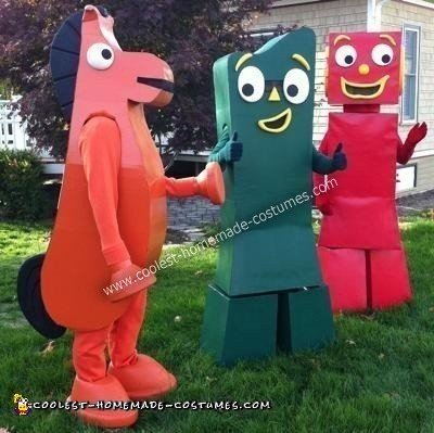 DIY Gumby Adventures Group Halloween Costume Idea
