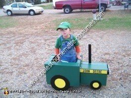 DIY John Deere Tractor Child Halloween Costume Idea