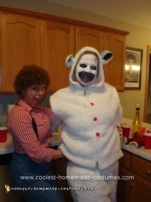Homemade  DIY Lamb Chop's Play Along Couple Halloween Costume