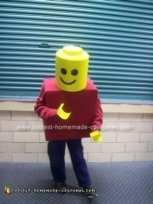 DIY Lego Minifig Boy Halloween Costume