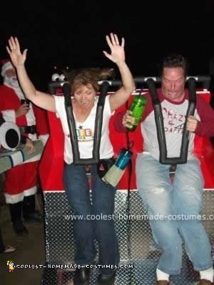 Homemade DIY Life is a Roller Coaster Ride Halloween Costume