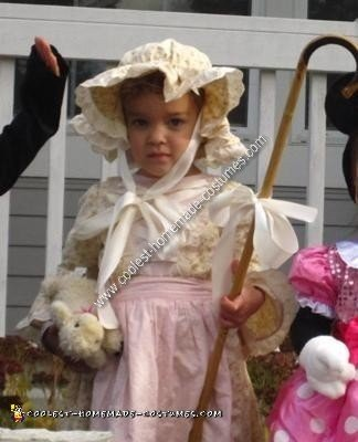 Homemade DIY Little Bo Peep Halloween Costume