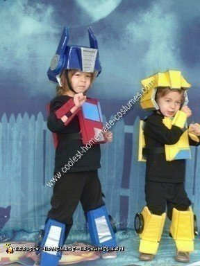 DIY Optimus Prime and Bumblebee Halloween Costume Ideas