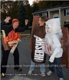 DIY Original S'mores Trio Group Costume