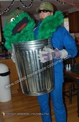 DIY Oscar the Grouch Halloween Costume