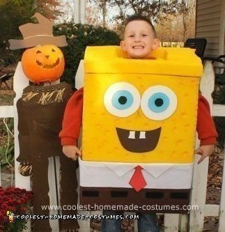 Homemade DIY Spongebob Squarepants Halloween Costume