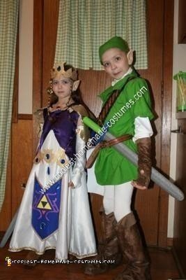 DIY Zelda and Link Child Halloween Couple Costume Ideas