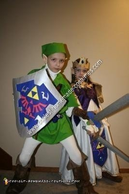 DIY Zelda and Link Child Halloween Couple Costume Ideas