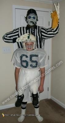 DIY Zombie Football Referee Halloween Costume