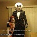 Homemade Do it Yourself Jack and Sally Couple Halloween Costume
