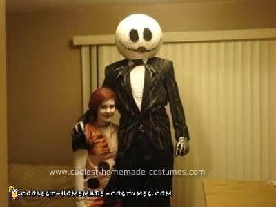 Homemade Do it Yourself Jack and Sally Couple Halloween Costume