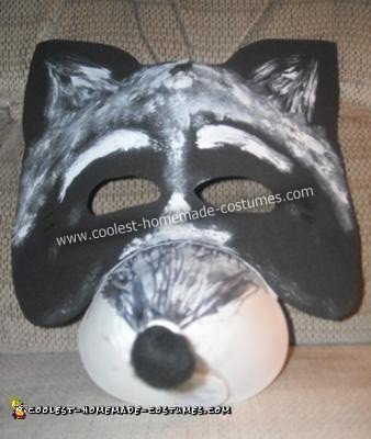 Do it Yourself Raccoon Halloween Costume