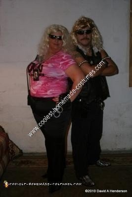 Homemade Dog and Beth Couple Costume