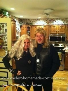 Homemade Dog the Bounty Hunter and Beth Costumes
