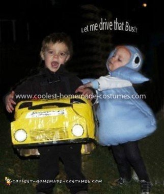 """Homemade  """"Don't Let the Pigeon Drive the Bus"""" Couple Costume"""