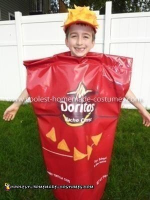 Homemade Doritos Bag Child's Costume
