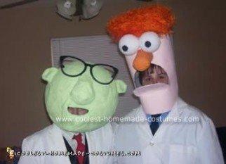 Homemade  Dr. Bunsen Honeydew and Beaker Costumes