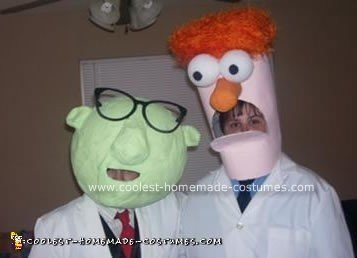 Homemade  Dr. Bunsen Honeydew and Beaker Costumes