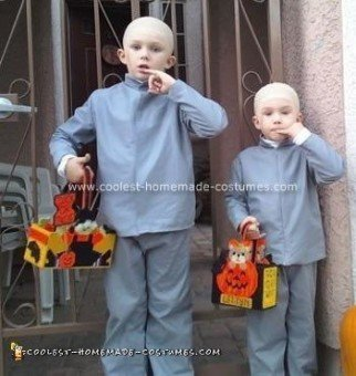 Homemade Dr. Evil and Mini Me Costumes