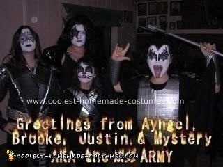 Homemade Duct Tape Kiss Costumes