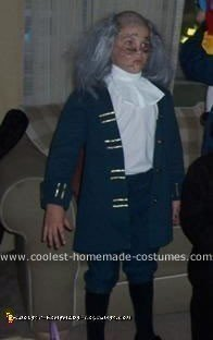 Homemade Electrocuted Ben Franklin Costume