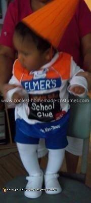 Homemade Elmer's Glue Child Costume