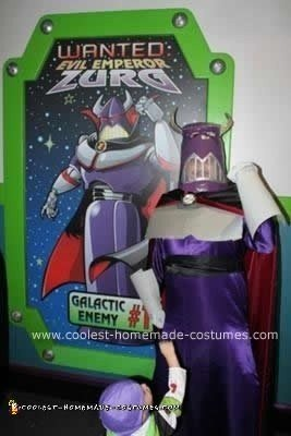 Homemade Emperor Zurg With LEDs Costume