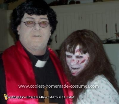 Homemade Exorcist and Priest Couple Costume