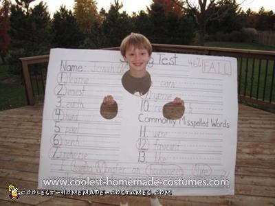 Coolest FAILED Spelling Test Costume