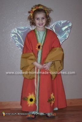 Homemade Fall Fairy Costume