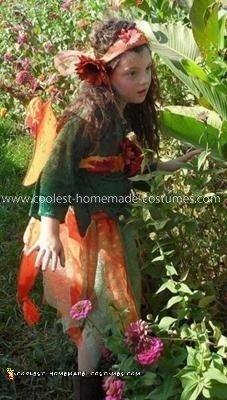 Homemade Fall Fairy Girl Costume