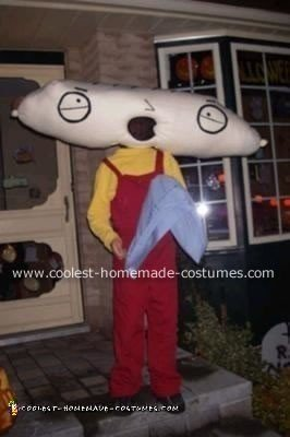 Homemade Stewie from Family Guy Costume