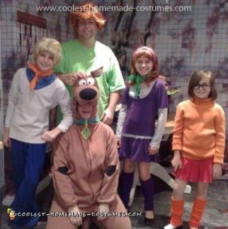 Homemade Family Scooby Doo Costume