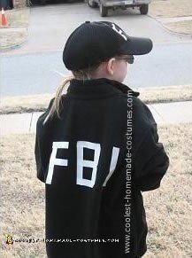 Homemade FBI Agent Costume