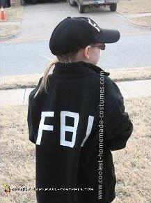 Homemade FBI Agent Costume