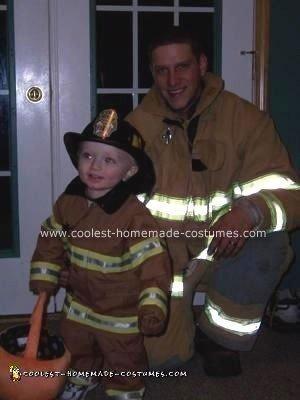 Homemade Firefighter Costume