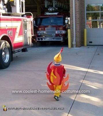 Coolest Firetruck, Fireman and Flame Couple Costume 12
