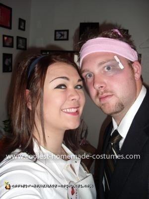 Homemade Flo and Mayhem Couple Costume
